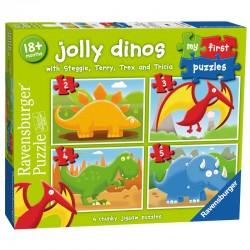 Puzzles 4 en 1 18 mois + Dinosaures 4 puzzles 2-3-4-5 pcs licence officielle RAVENSBURGER idée cadeau anniversaire noël neuf