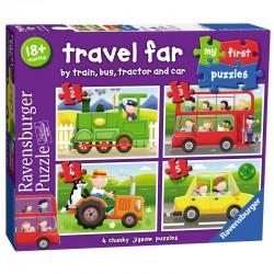 Puzzles 4 en 1 18 mois + Transports 4 puzzles 2-3-4-5 pcs licence officielle RAVENSBURGER idée cadeau anniversaire noël neuf