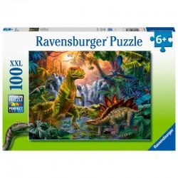 Puzzle Dinosaure Oasis puzzle XL 100pcs marque RAVENSBURGER idée cadeau anniversaire noel neuf