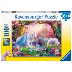 Puzzle licorne monde féerique puzzle XL 100pcs marque RAVENSBURGER idée cadeau anniversaire noel neuf
