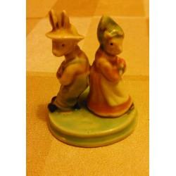 Idée décoration : petite déco céramique couple lapin