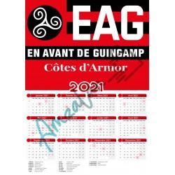 Calendrier 2021 COLLECTION FOOT EAG GUINGAMP V3 plastifié idée cadeau anniversaire noel neuf