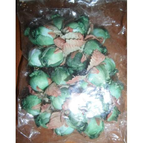 Déco fêtes mariage baptêmes anniversaire anniversaire rose feuilles vertes neuf x 24