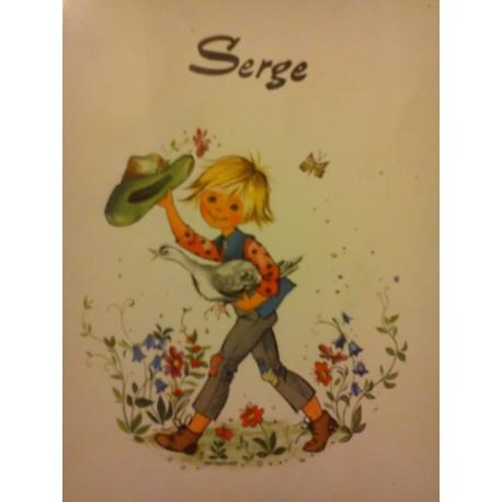 """prenom sur faience a encadré ou poser """"SERGE """" neuf"""