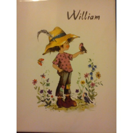 "prenom sur faience a encadré ou poser ""WILLIAM "" neuf"