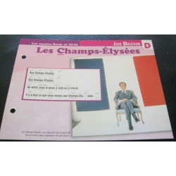 """FICHE FASCICULE """" PAROLES DE CHANSONS """" JOE DASSIN les champs Elysée 1969"""