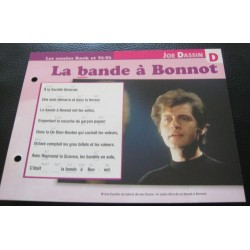 "FICHE FASCICULE "" PAROLES DE CHANSONS "" JOE DASSIN la bande a bonnot 1968"