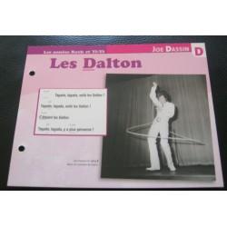 """FICHE FASCICULE """" PAROLES DE CHANSONS """" JOE DASSIN les dalton 1967"""