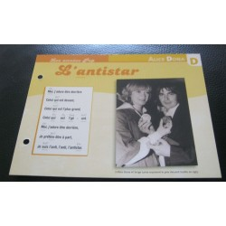 "FICHE FASCICULE "" PAROLES DE CHANSONS "" ALICE DONA l'antistar 1976"