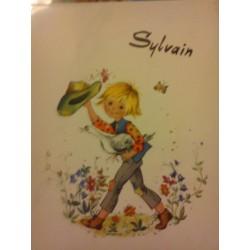 """Prénom sur faïence """" SYLVAIN """" idée cadeau original anniversaire retraite naissance etc neuf"""
