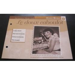 """FICHE FASCICULE """" PAROLES DE CHANSONS """" MARIE DUBAS le doux caboulot 1931"""