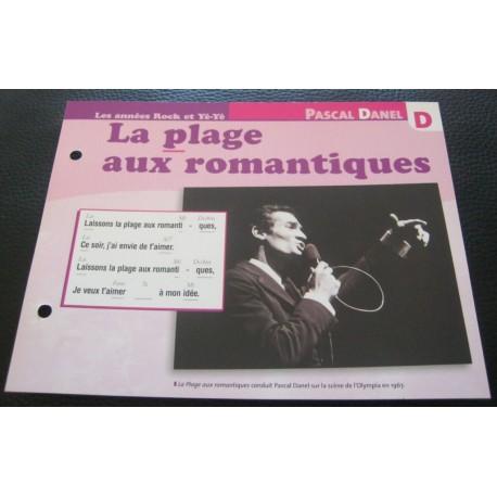 """FICHE FASCICULE """" PAROLES DE CHANSONS """" PASCAL DANEL la plage aux romantiques 1966"""