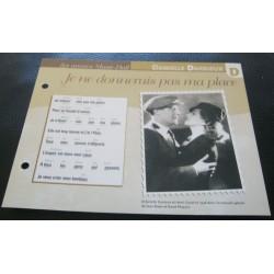 """FICHE FASCICULE """" PAROLES DE CHANSONS """" DANIELLE DARRIEUX je ne donnerais pas ma place 1936"""