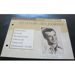 """FICHE FASCICULE """" PAROLES DE CHANSONS """" ANDRÉ DASSARY la révolte des joujoux 1936"""