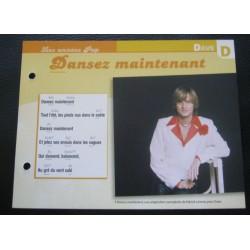 FICHE FASCICULE PAROLES DE CHANSONS DAVE dansez maintenant 1975 collection occasion TBE
