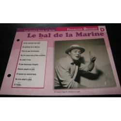 """FICHE FASCICULE """" PAROLES DE CHANSONS """" FRANCOIS DEGUELT le bal de la marine 1969"""