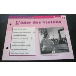 """FICHE FASCICULE """" PAROLES DE CHANSONS """" DAMIA l'âme des violons 1952"""