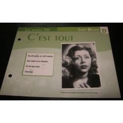 """FICHE FASCICULE """" PAROLES DE CHANSONS """" SUZY DELAIR c'est tout 1948"""