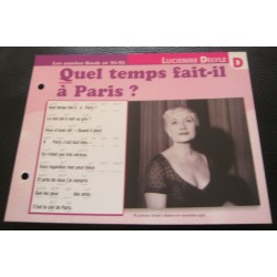 """FICHE FASCICULE """" PAROLES DE CHANSONS """" LUCIENNE DELYLE quel temps fait il a paris? 1957"""