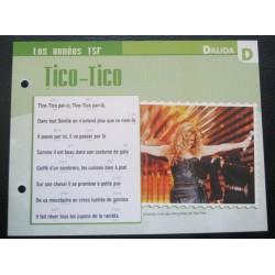 """FICHE FASCICULE """" PAROLES DE CHANSONS """" DALIDA tico tico 1943"""