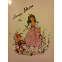 """Prénom sur faïence """" ANNE MARIE """" idée cadeau original anniversaire retraite naissance etc neuf"""