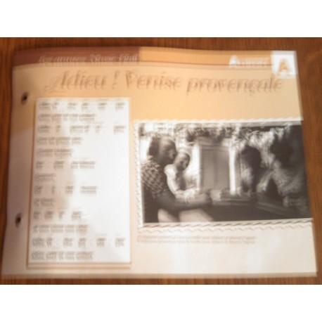 """FICHE FASCICULE """" PAROLES DE CHANSONS """" ALIBERT adieu ! Venise provençale 1934"""