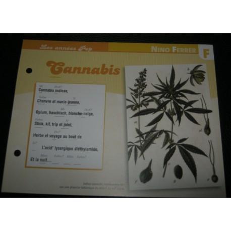 "FICHE FASCICULE "" PAROLES DE CHANSONS "" NINO FERRER cannabis 1972"