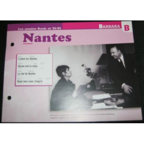 "FICHE FASCICULE "" PAROLES DE CHANSONS "" BARBARA Nantes 1964"