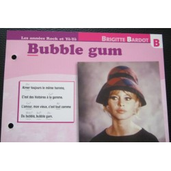 "FICHE FASCICULE "" PAROLES DE CHANSONS "" BRIGITTE BARDOT bubble gum 1965"