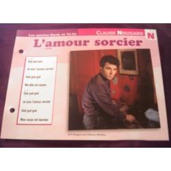 FICHE FASCICULE PAROLES DE CHANSONS CLAUDE NOUGARO l'amour sorcier 1966 collection occasion TBE