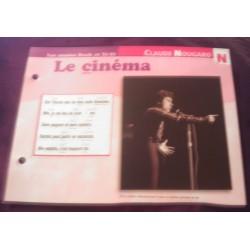"""FICHE FASCICULE """" PAROLES DE CHANSONS """" CLAUDE NOUGARO le cinéma 1962"""