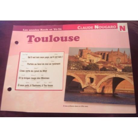 """FICHE FASCICULE """" PAROLES DE CHANSONS """" CLAUDE NOUGARO Toulouse 1967"""