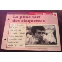 """FICHE FASCICULE """" PAROLES DE CHANSONS """" CLAUDE NOUGARO la pluie fait des claquettes 1968"""