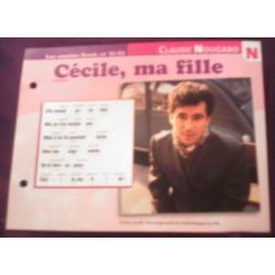 """FICHE FASCICULE """" PAROLES DE CHANSONS """" CLAUDE NOUGARO Cécile,ma fille 1963"""