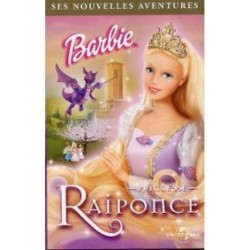 Cassette k7 vidéo vhs enfants Barbie Princesse Raiponce occasion