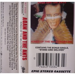 """Cassette audio K7 AUDIO adam and the ants """"kings of the wild frontier"""""""