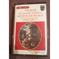 Cassette audio K7 AUDIO musique vivaldi les 4 saisons A. grumiaux