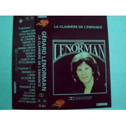 """Cassette audio K7 MUSIQUE Gérard Lenorman """"la clairière de l'enfance"""""""