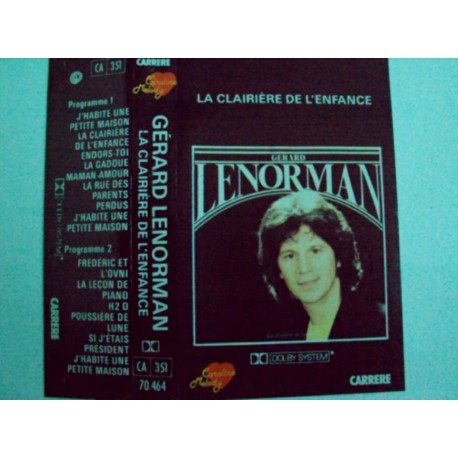Cassette audio K7 MUSIQUE Gérard Lenorman la clairière de l'enfance