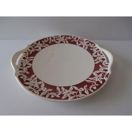 Plat de présentation porcelaine Sarreguemines - Calvi - numéroté