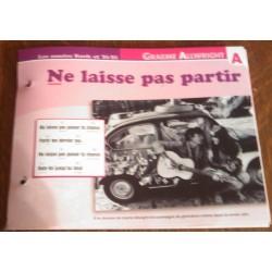 """FICHE FASCICULE """" PAROLES DE CHANSONS """" GRAEME ALLWRIGHT ne laisse pas partir 1966"""