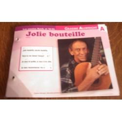 """FICHE FASCICULE """" PAROLES DE CHANSONS """" GRAEME ALLWRIGHT jolie bouteille 1968"""
