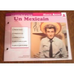 """FICHE FASCICULE """" PAROLES DE CHANSONS """" MARCEL AMONT un mexicain 1962"""