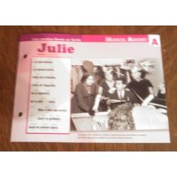 """FICHE FASCICULE """" PAROLES DE CHANSONS """" MARCEL AMONT Julie 1957"""