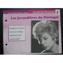 """FICHE FASCICULE """" PAROLES DE CHANSONS """" JACQUELINE FRANÇOIS les lavandières du Portugal 1955"""