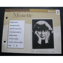 """FICHE FASCICULE """" PAROLES DE CHANSONS """" FREHEL musette 1926"""