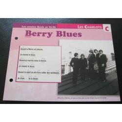 """FICHE FASCICULE """" PAROLES DE CHANSONS """" LES CHARLOTS Berry blues 1967"""