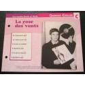 """FICHE FASCICULE """" PAROLES DE CHANSONS """" GEORGES CHELON la rose des vents 1965"""