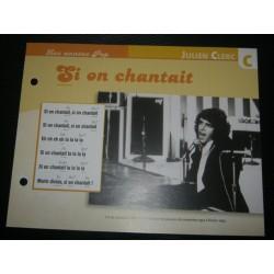 """FICHE FASCICULE """" PAROLES DE CHANSONS """" JULIEN CLERC si on chantait 1972"""
