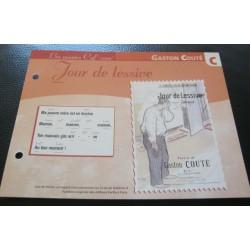 """FICHE FASCICULE """" PAROLES DE CHANSONS """" GASTON COÛTÉ jour de lessive 1910"""